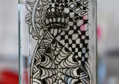 Zentangle auf Glas